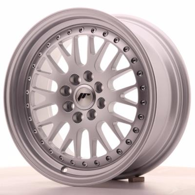 "Jante alu Japan Racing JR-10 16x7"" 4x100 / 4x108 ET30, gris argenté / bords polis"